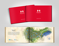 "Promotional brochure design for ""Marseille"" cottage"