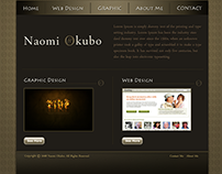 NaomiDesigns Portfolio Website in 2008