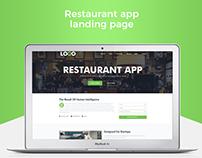 Restaurant App Landing page