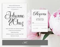 Wedding invitation and program design