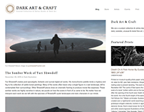 Dark Art & Craft Website Design
