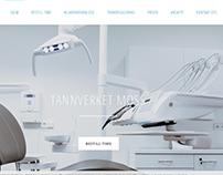 Nettside for tannklinikken Tannverket Moss AS