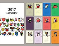 Design for calendar 2017