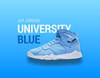 AIR JORDAN - UNIVERSITY BLUE - Graphic Design Concept