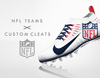 NFL Franchises x Custom Designed Cleats