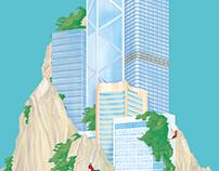 說東道西-城市中的哲學家|專欄插畫 Thinking East and West