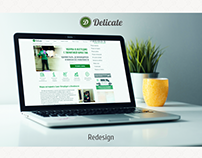 Delicate cleaning - website redesign