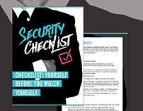 PDF-Design and E-Book Cover - Security Checklist