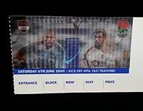 Standard Bank VISA RFU Rugby Lenticular Ticket