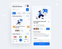 Events Management App Design