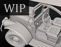 Retro car 3D (Work in progress)