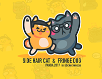 Side Hair Cat & Fringe Dog Motion stickers
