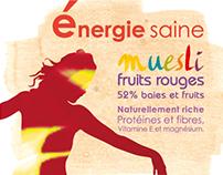 Muesli fruits rouges : l'énergie saine