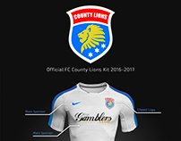 FC County Lions Football Kit 2016-2017