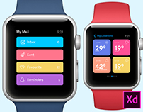 Freebie - Apple Watch design concepts for Adobe Xd
