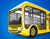 Inti. Electric-Solar bus
