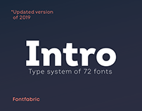 Intro Font Family