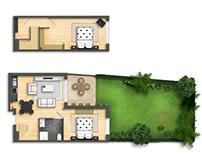 Floor plan rendering 2D