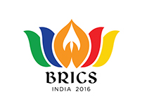 Logo Design of BRICS Summit 2016.