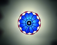 Stained Glass Inverted Lamp