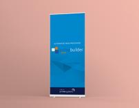 Banner físico para feira de eventos