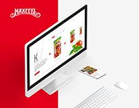 Maheev redesign of a website