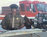 Enterprise Uniform Co. Mural , Signage,& car - Detroit