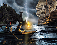 Storm on Pirates Island - Photo Manipulation