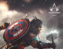 Assassin's creed Valhalla Posters of marvel characters