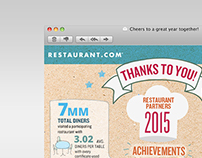 Restaurant.com Partner Thank You Infographic