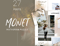Monet - Instagram Puzzle Template 27 posts