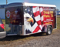 Boy Scout Troop 999 Trailer Wrap