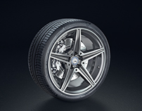 Product Shot - Mercedes-Benz AMG rim