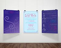 Samba - Cartazes tipograficos