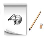 Diseño logotipo del 40 Aniversario Banco Fihogar