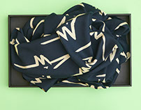 screenprinted scarves