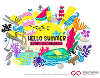 HELLO SUMMER-Illustration // Eigenprojekt // Holidays