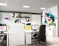 Дизайн-проект офиса интернет-магазина косметики