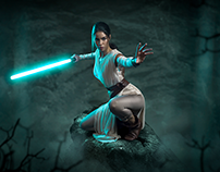 May the force be with you (Rey from Star Wars-fan art)