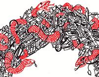 Snake Oil. Doodle on Car