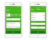 Delivery app concept