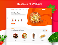 Restaurant Website Template Design
