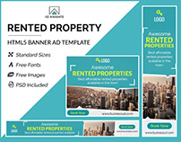 Rented Property Banner- HTML5 Banner Ad Templates
