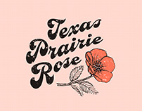 Texas Prairie Rose Logo Design