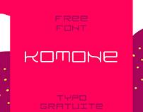 KOMONE - Free font