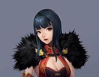 Oriental fantasy character