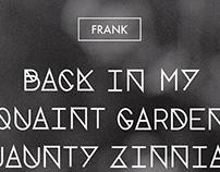 Typeface - Frank