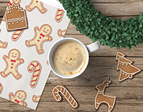 Gingerbread cookies illustrations (+ freebies)