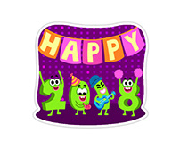 Celebrations- Animated stickers for Hike Messenger