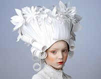 Baroque paper wigs